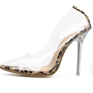 Eilyken Clear Transparent Perspex Heel Stilettos